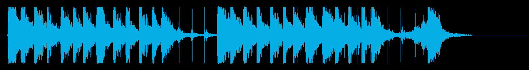 ファンキー、エネルギッシュ!リズムロゴの再生済みの波形