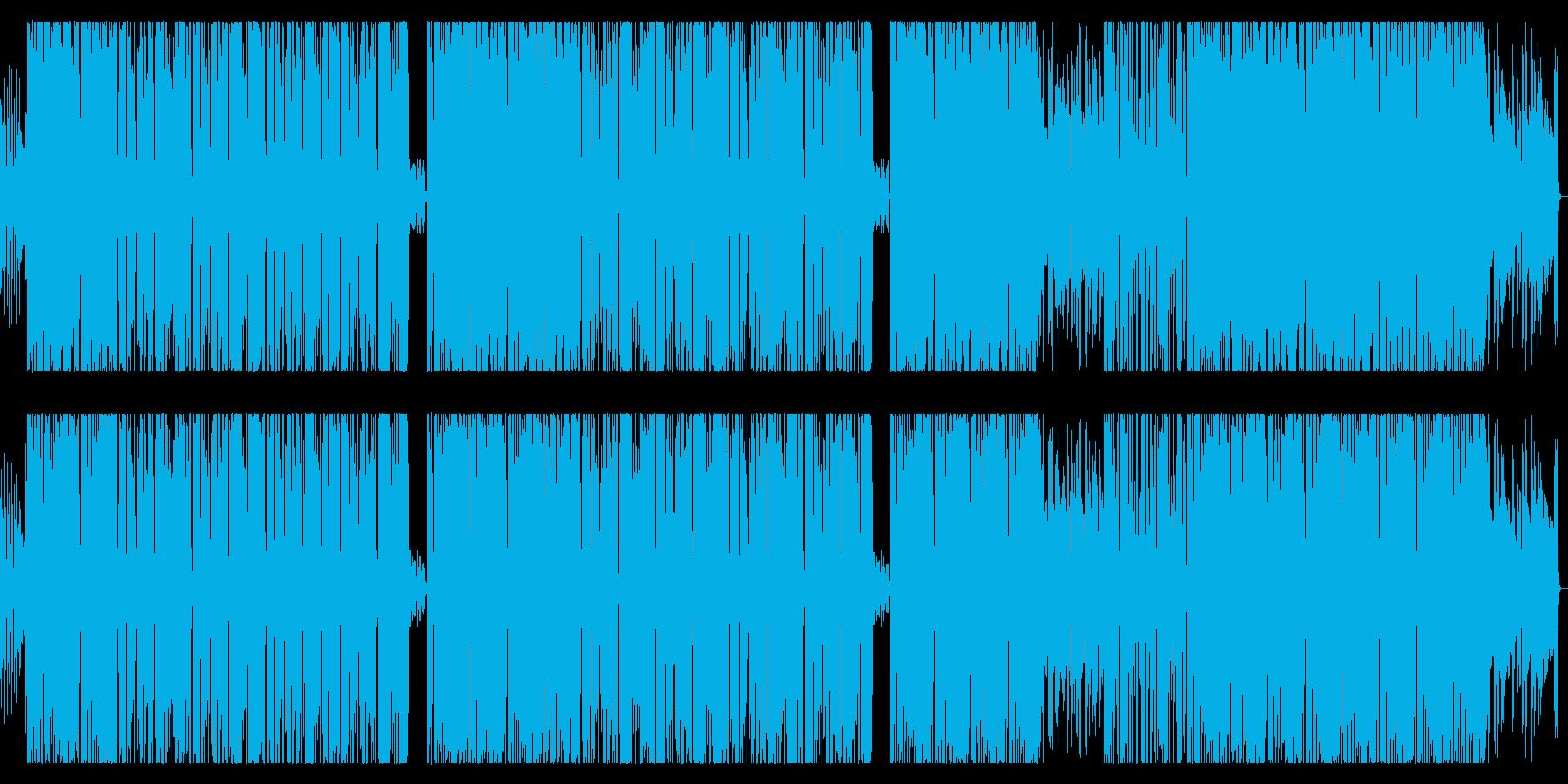 ブルースギターのお洒落トラックの再生済みの波形