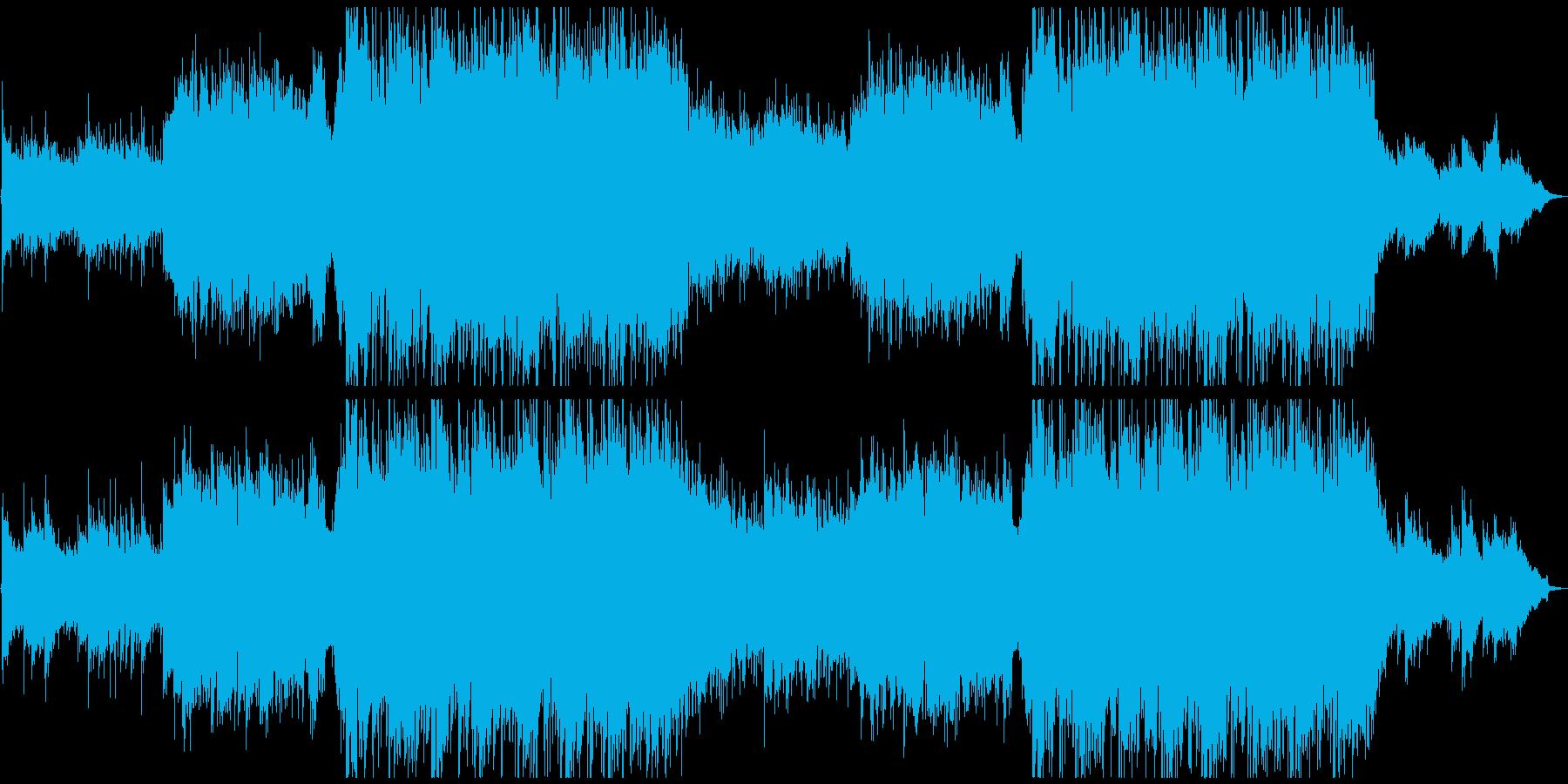 美しいピアノコーラス・感動的オーケストラの再生済みの波形
