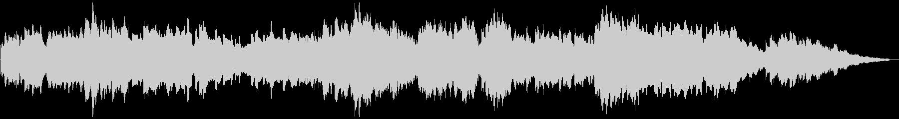 オルゴール風の優しいBGMの未再生の波形