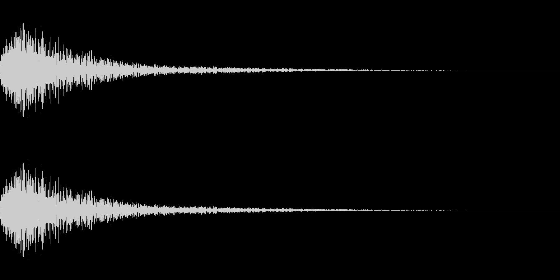 ジェット音・エアブラストの未再生の波形