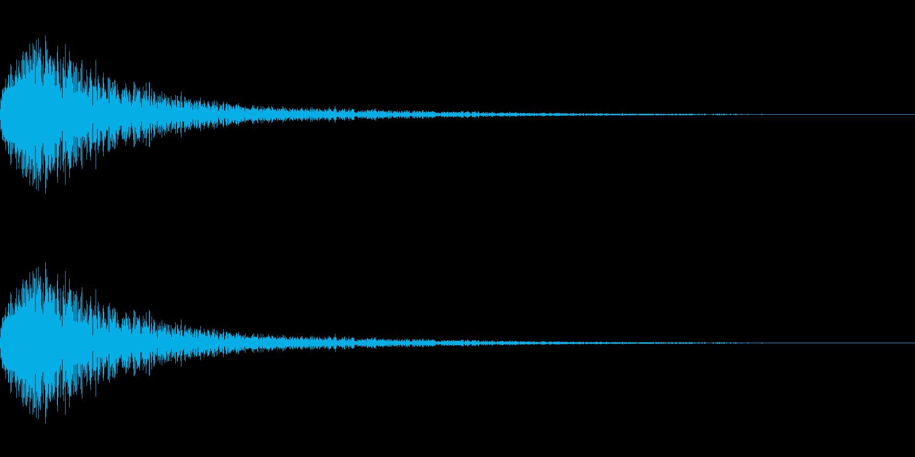 ジェット音・エアブラストの再生済みの波形