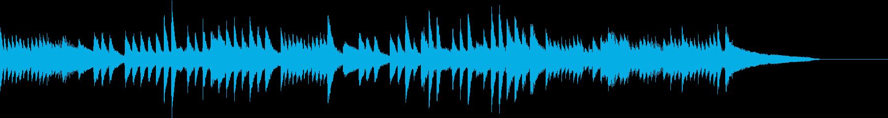 遠くの花火の音が聴こえるピアノジングルの再生済みの波形