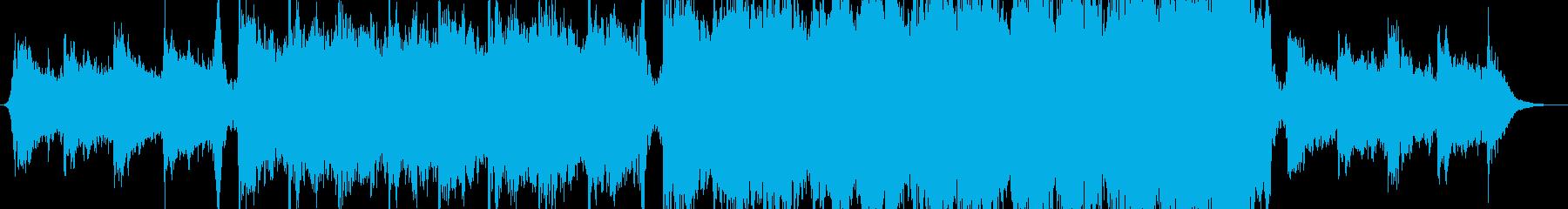 シネマティックエピックサウンドトラックの再生済みの波形