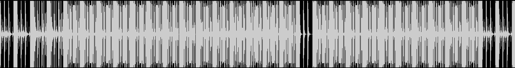 勢いと迫力がインパクトあるメロディーの未再生の波形