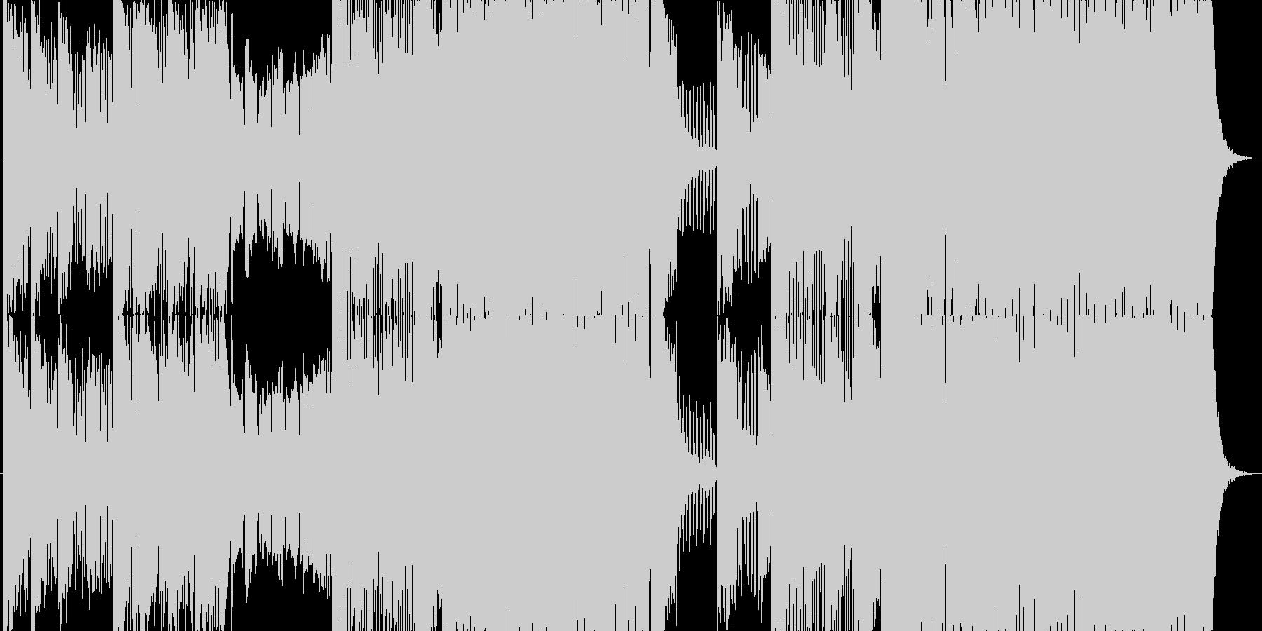 攻撃的かつポップなダブステップの未再生の波形