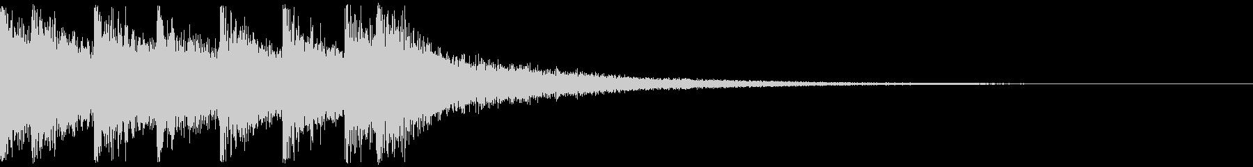 クイズ系のシンプルなジングルの未再生の波形