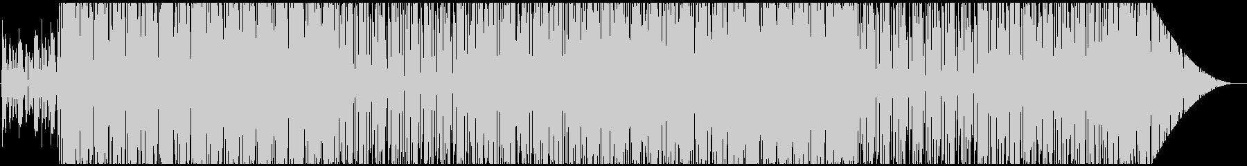 エレクトリックで無機質な曲の未再生の波形