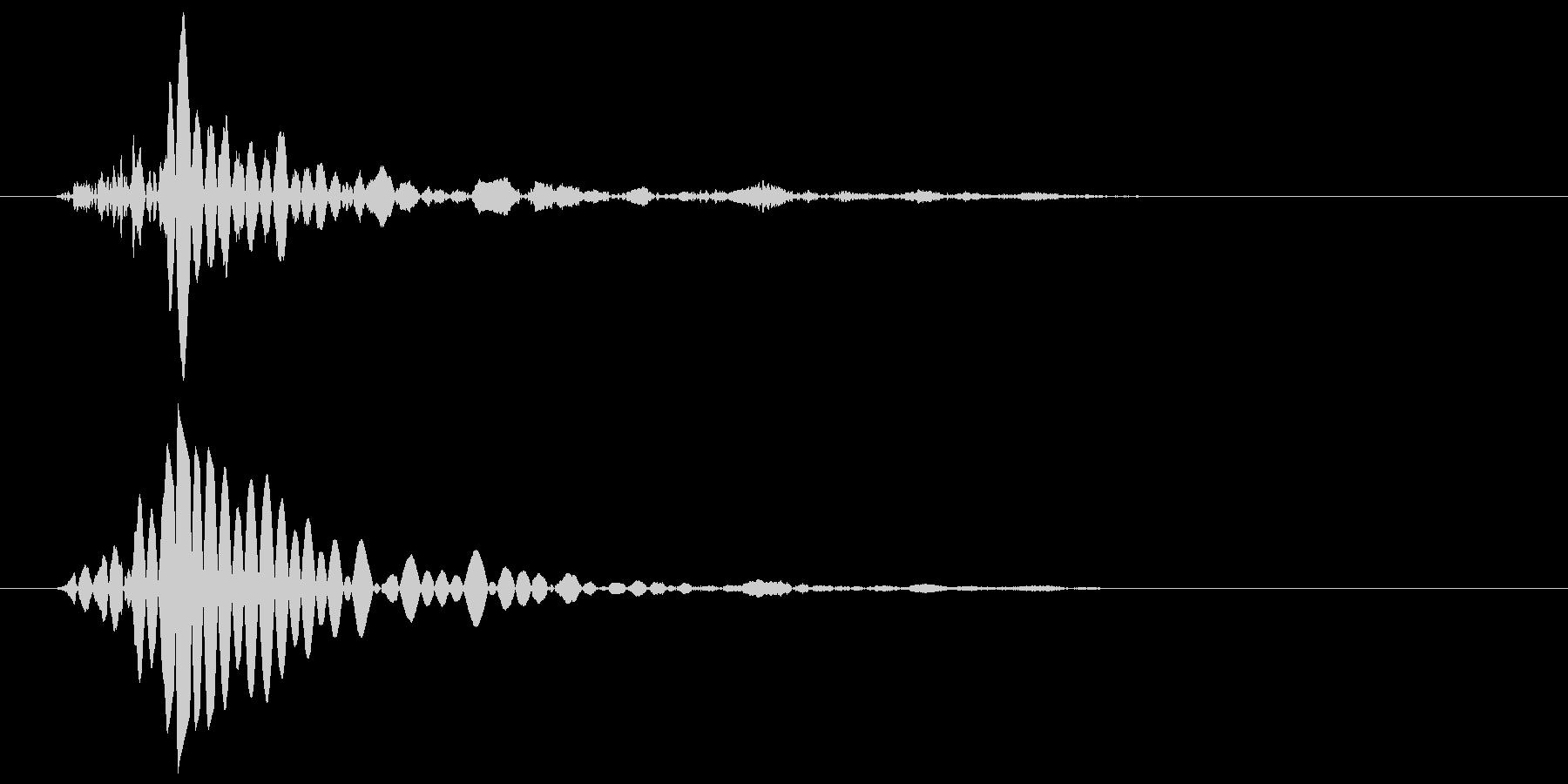 ドンという低いエアー音の未再生の波形