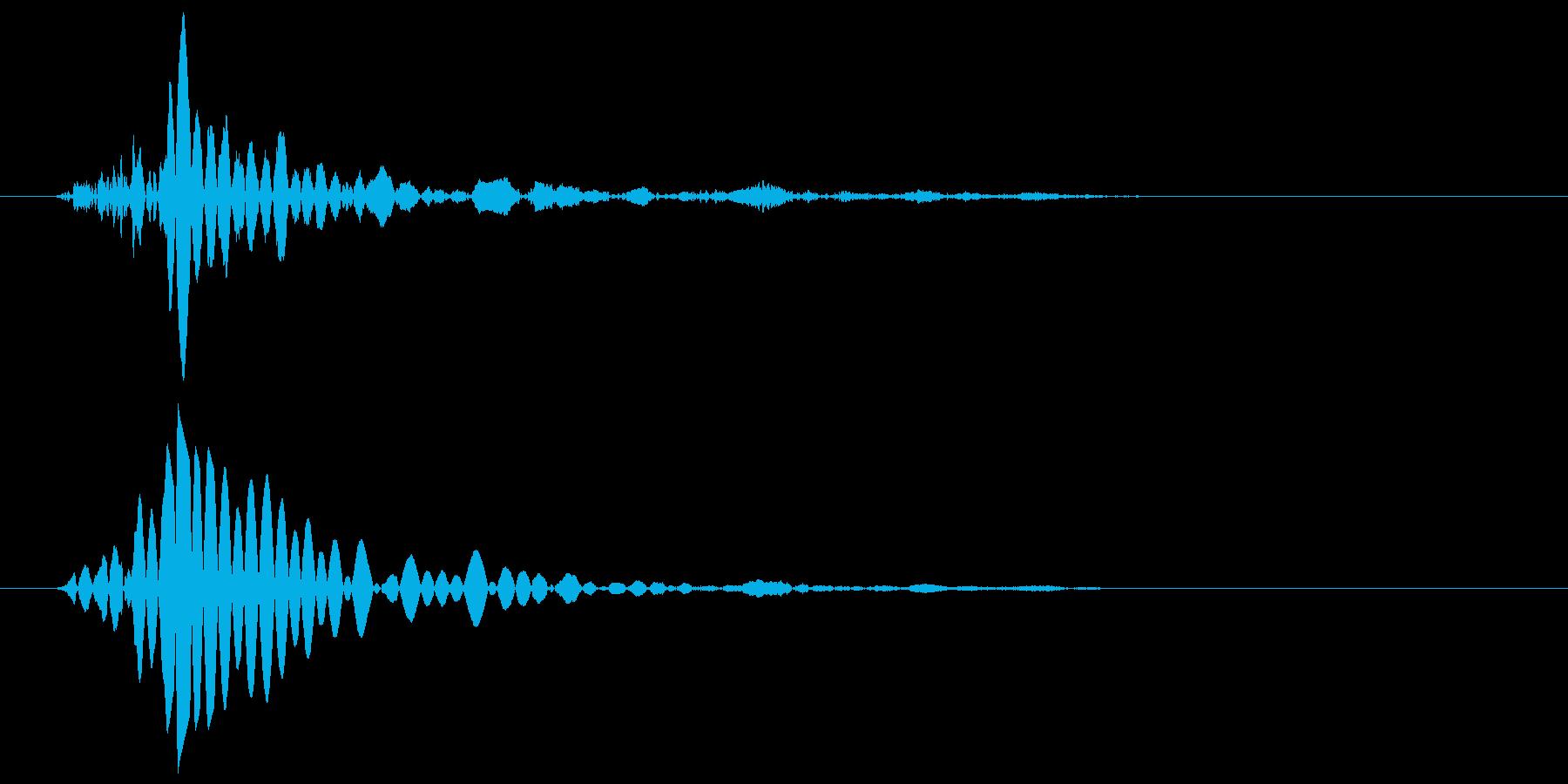 ドンという低いエアー音の再生済みの波形