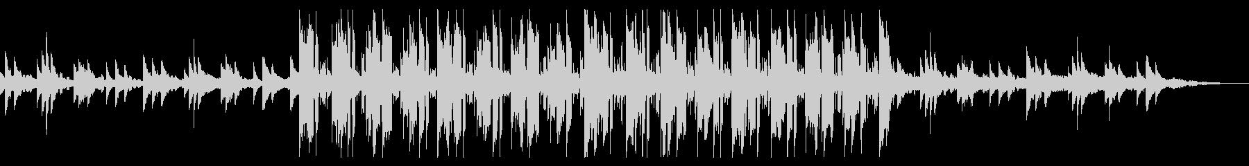 しっとり穏やかなピアノバラードの未再生の波形