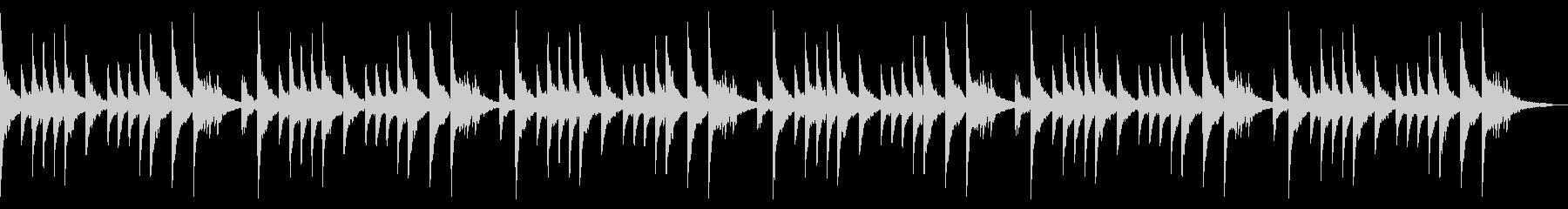 桜散るエモーショナルピアノソロチルアウトの未再生の波形