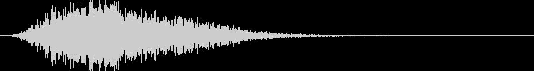 ドカーン:上昇して爆発する音の未再生の波形