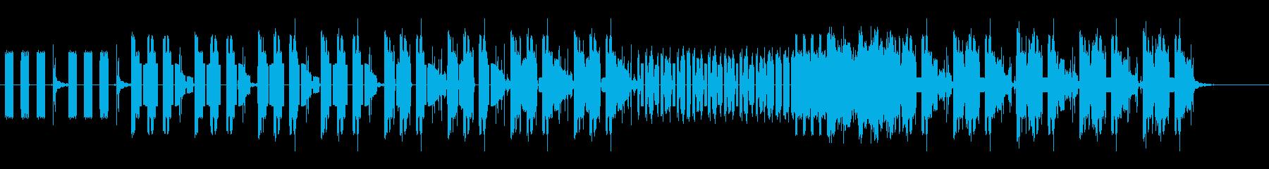 電話の効果音のみの忙しい曲の再生済みの波形