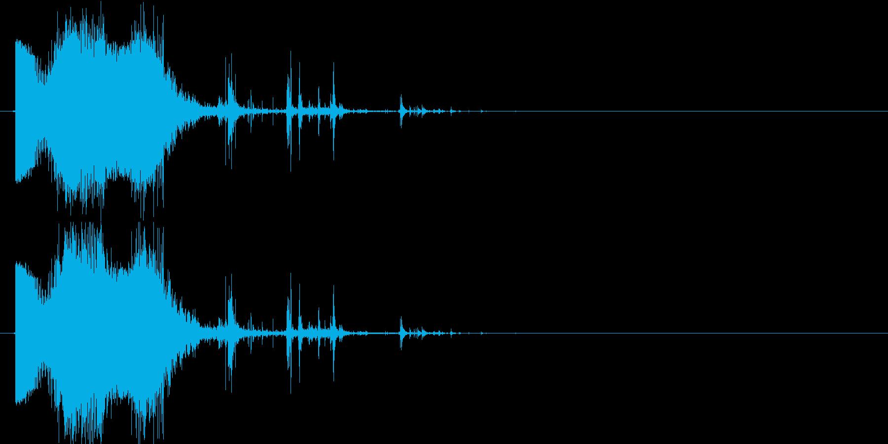 斬撃:軽めの斬撃3出血多めの再生済みの波形