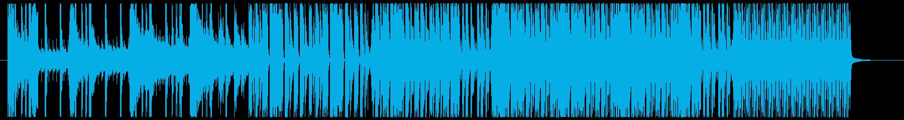 クラブ調を全面に出した四つ打ちの再生済みの波形