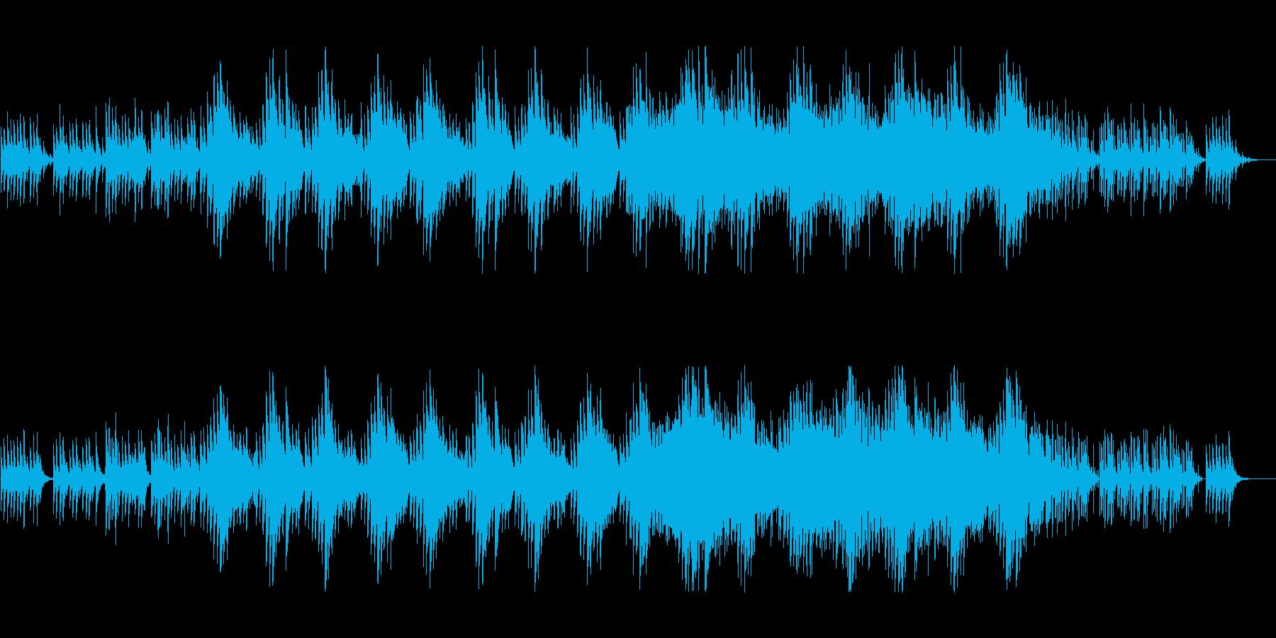 デジタルでプリミティブな独特の世界の再生済みの波形