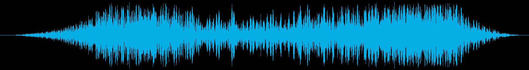 グリッチスキッドスイープの再生済みの波形