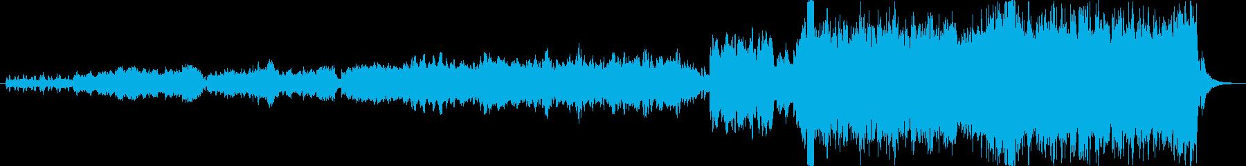 静かに盛り上がる感動的なオーケストラの再生済みの波形