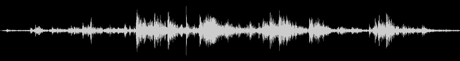 氷を入れる音(シャカ、カラン)の未再生の波形