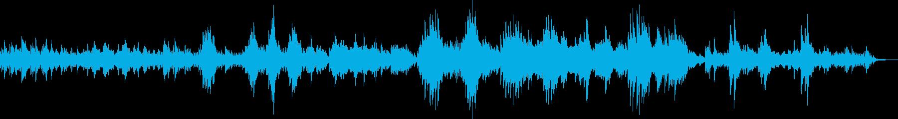 神秘的・幻想的なピアノソロ曲の再生済みの波形
