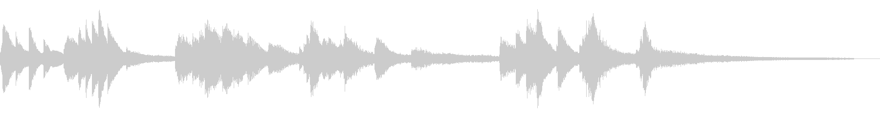 薄暗く湿った和風ジングル43-ピアノソロの未再生の波形