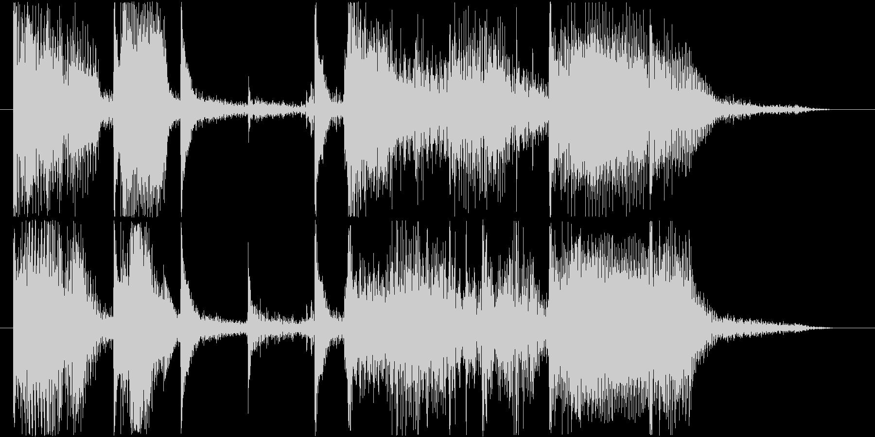ゆったりとしたファンクトラックの未再生の波形
