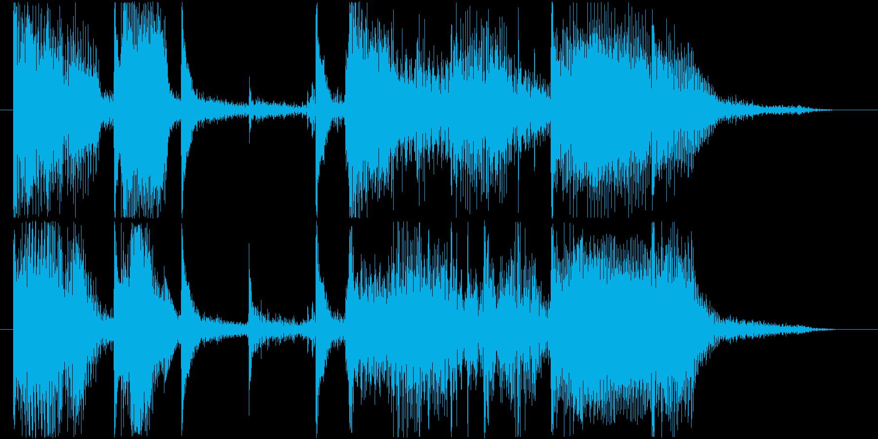 ゆったりとしたファンクトラックの再生済みの波形