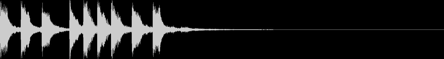 切ない・サウンドロゴ・近未来的・EDMの未再生の波形