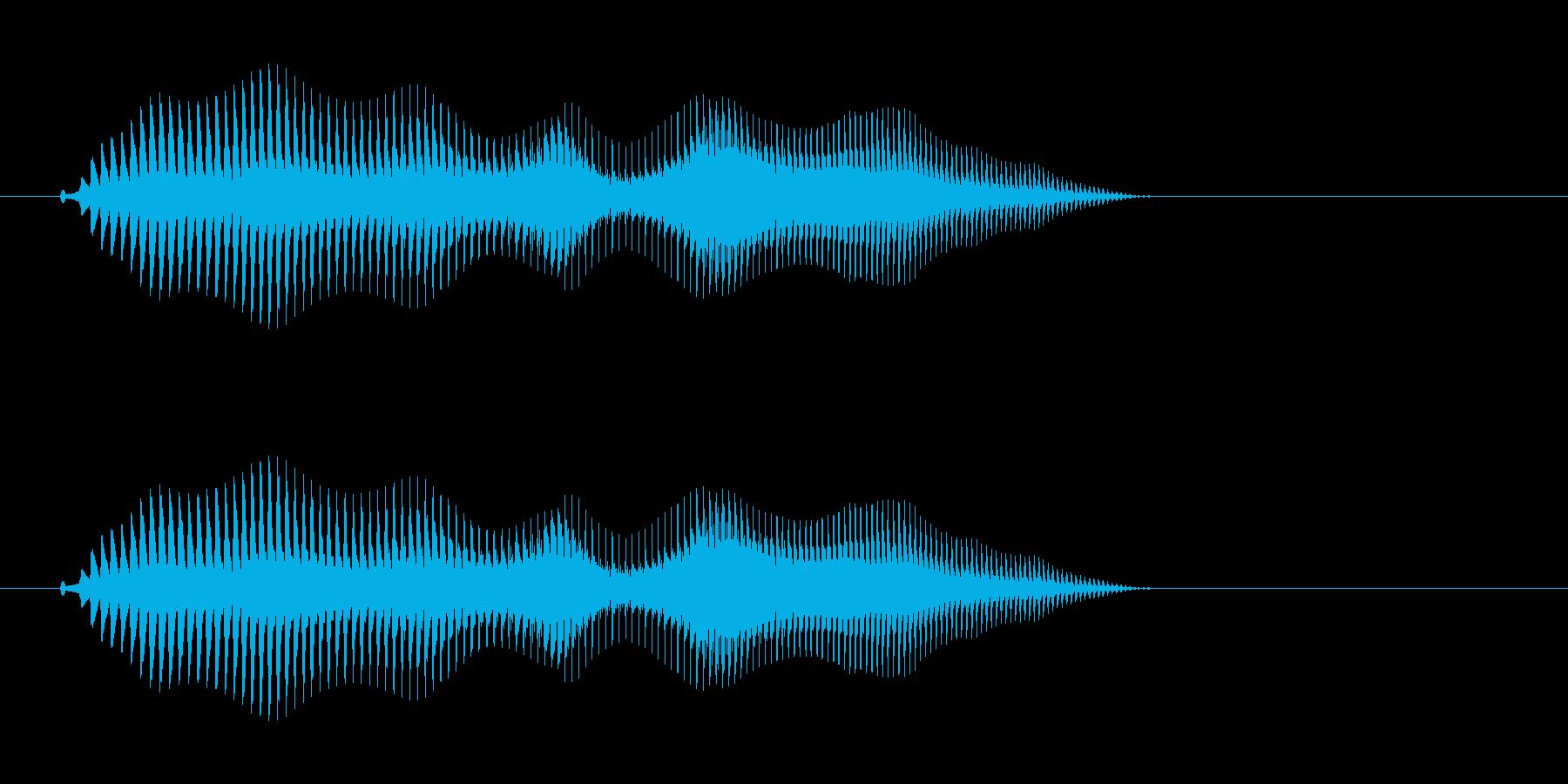 ピュイ(「動」を連想する決定音)の再生済みの波形