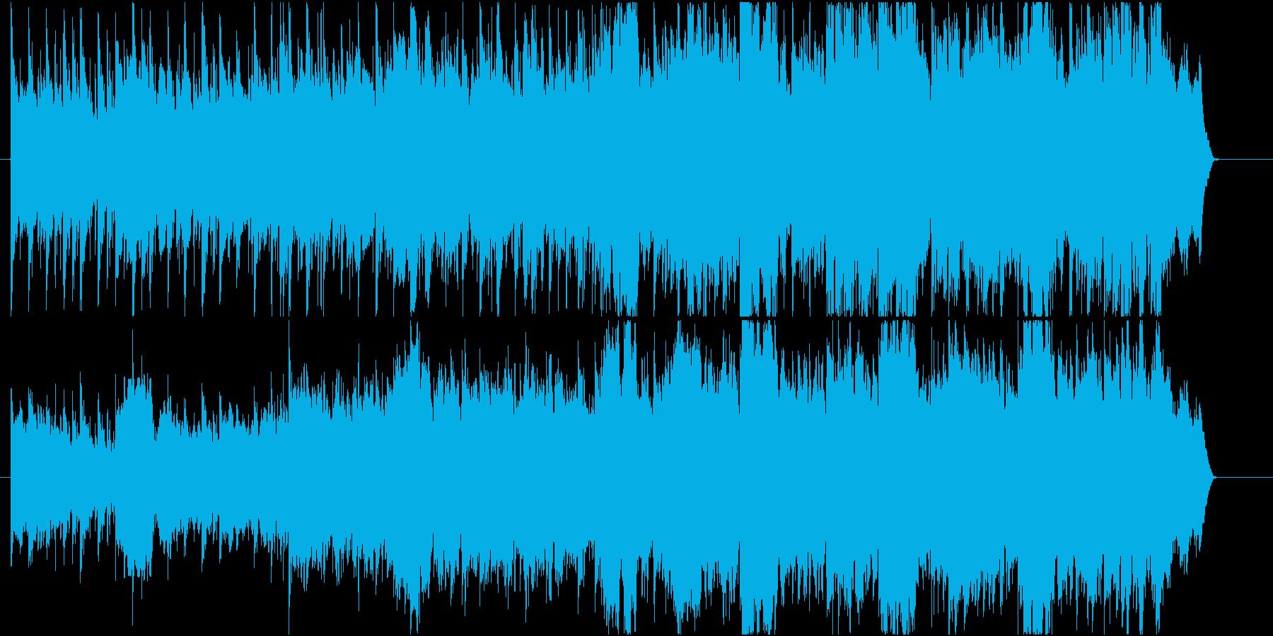 せつないアコギとチェロの曲、夕暮れの再生済みの波形