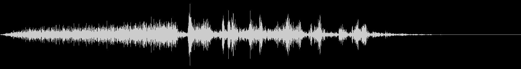 【生録音】本のページをめくる音 17の未再生の波形