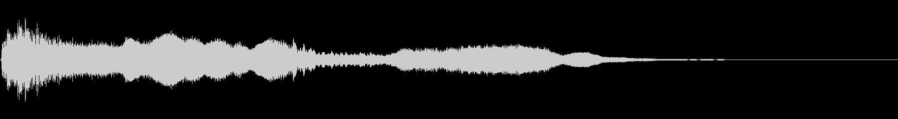 金属系のアイキャッチ・タイトル音の未再生の波形