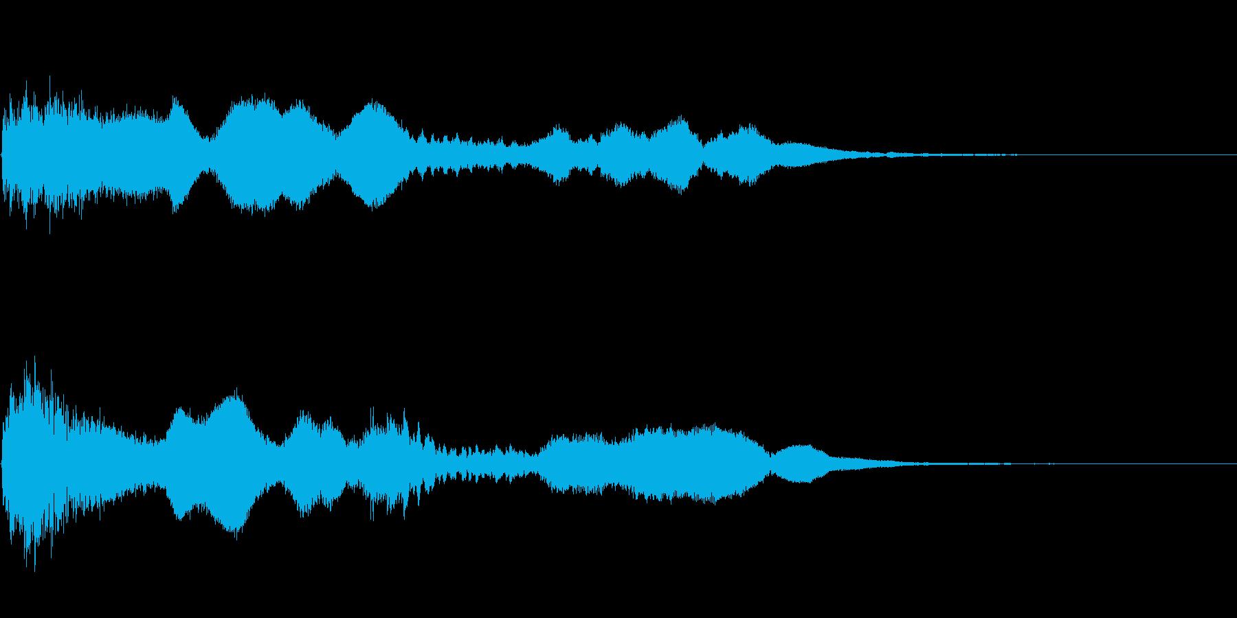 金属系のアイキャッチ・タイトル音の再生済みの波形