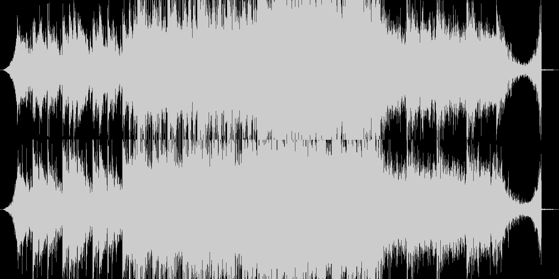 切ない、ホラータイトル画面向けBGMの未再生の波形