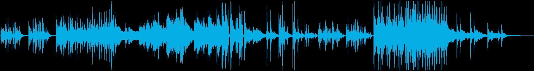 涼しさを感じるピアノソロBGMの再生済みの波形