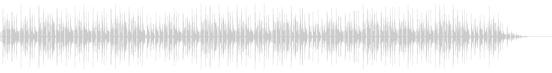 童謡「幸せなら手を叩こう」脱力系アレンジの未再生の波形