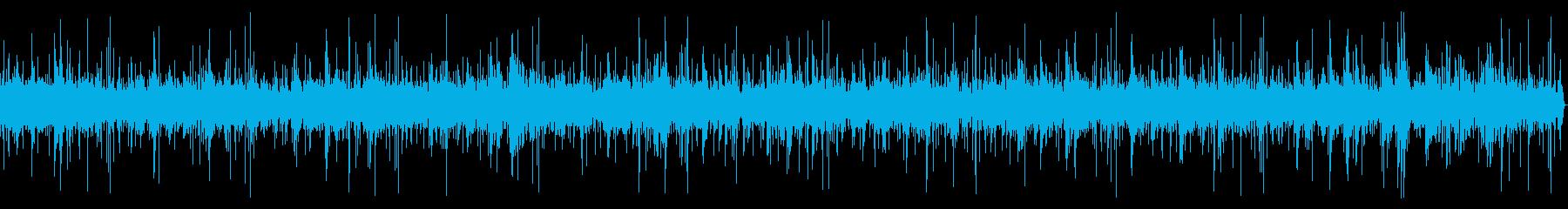 環境音とピアノを使った穏やかなBGMの再生済みの波形
