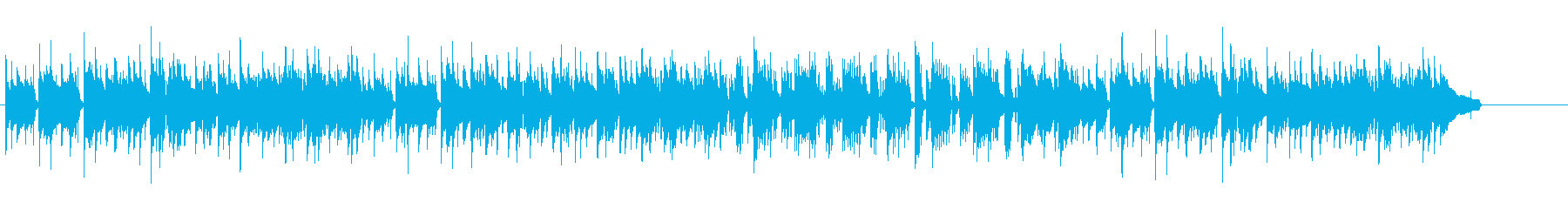 地味な作業シーン向きアコギBGMの再生済みの波形