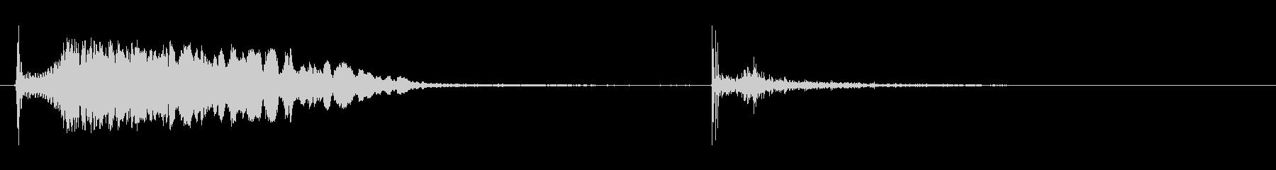シングルボトルロケット:ホイッスル...の未再生の波形