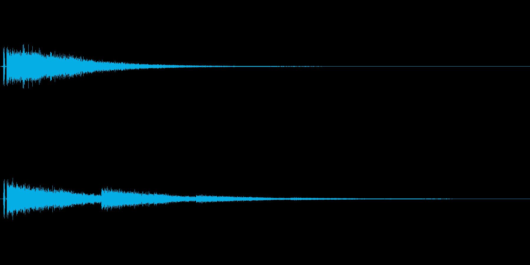 爆発音のような音の再生済みの波形