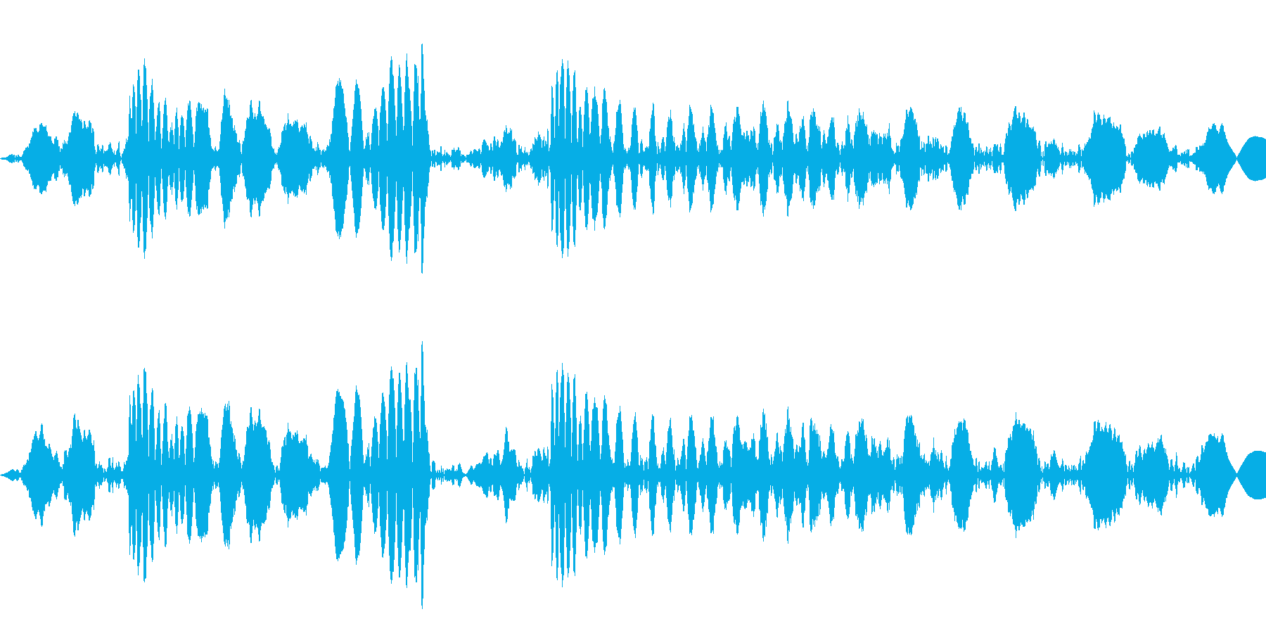 ジュクジュー:レコードのスクラッチの再生済みの波形