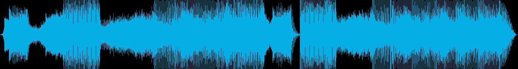 劇的に展開するEDM、トランスの再生済みの波形