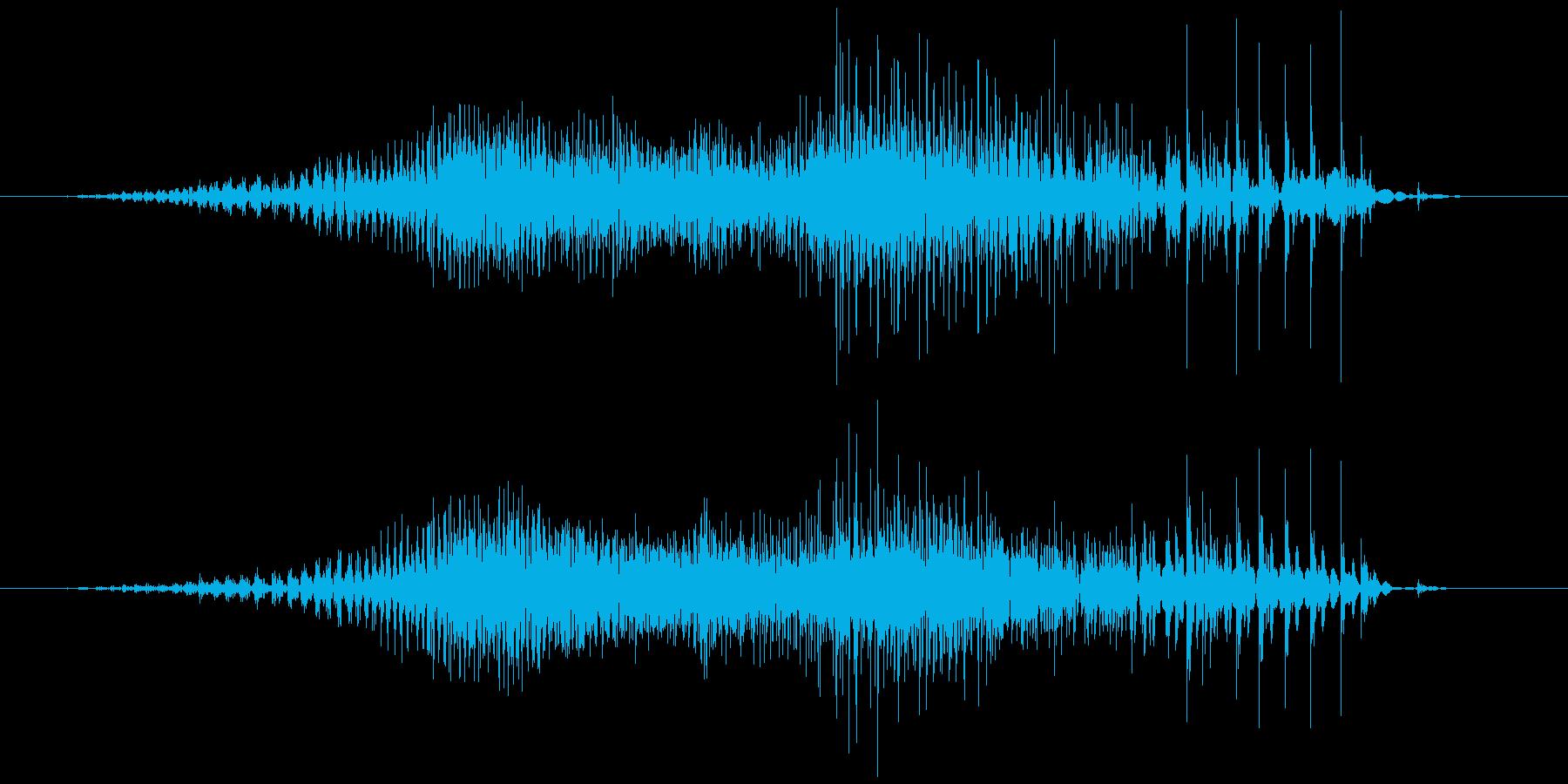 チャック、ジッパー(開閉音) ジィゥジジの再生済みの波形
