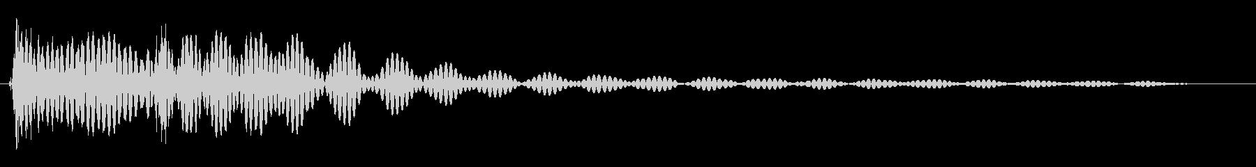勢いやキレがある効果音の未再生の波形