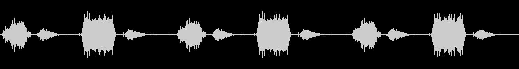 スキューバ機器:フォリー:口を通し...の未再生の波形