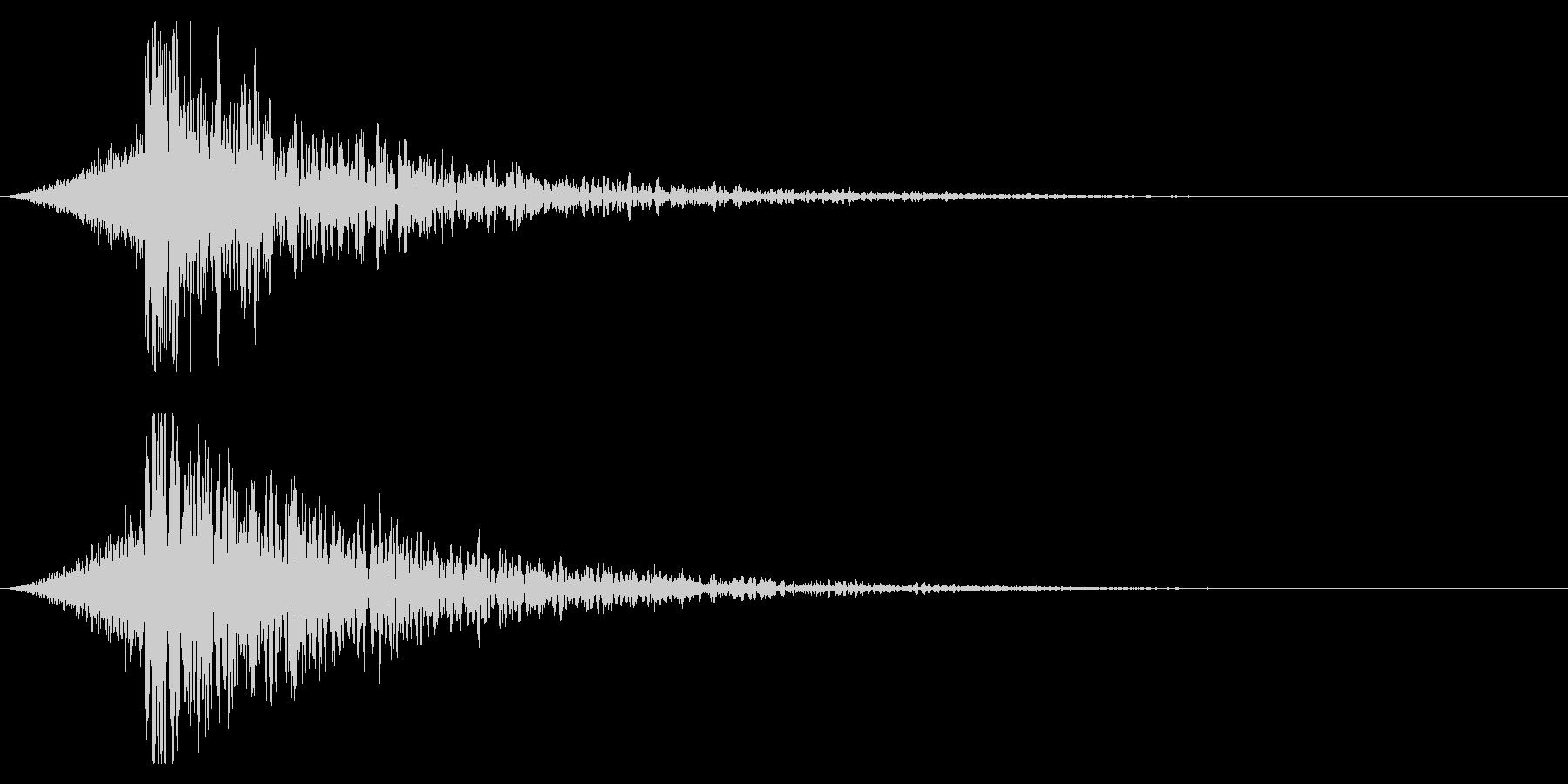 シュードーン-22-4(インパクト音)の未再生の波形