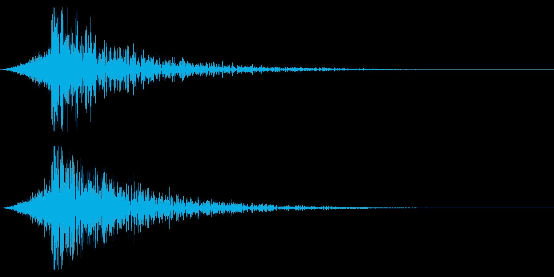シュードーン-22-4(インパクト音)の再生済みの波形