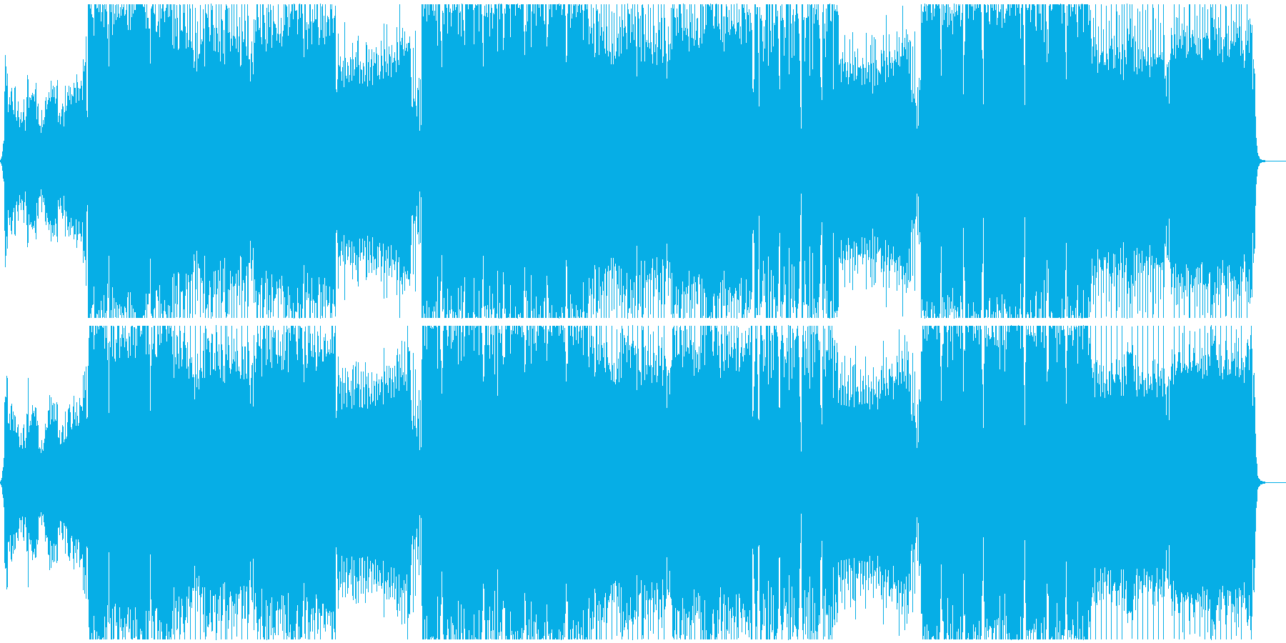 動画のED向け幻想的で力強いEDMの再生済みの波形