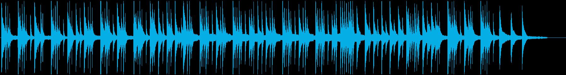 さびしく一人で考え込んでいる場面のBGMの再生済みの波形